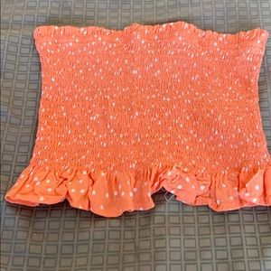 Tube top/ coral colored